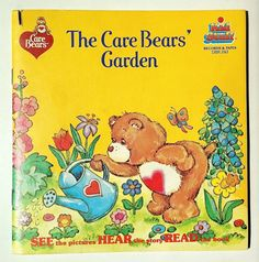 Care Bears - The Care Bears' Garden 7' Vinyl Record /  Book, Kid Stuff - DBR 243, Children's Story, 1984, Original Pressing
