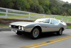 """1967 Jaguar Bertone Pirana Coupe  In 1967, this prototype Jaguar was made conjunction with The Daily Telegraph as a redesigned Jaguar E-Type. Starting a new 4.2-litre 2+2 from Jaguar, Marcello Gandini at Bertone redesigned the car into an """"ideal car"""" with direct help from Jaguar and their partners. http://www.supercars.net/cars/5811.html#P40Esk5YEiLT2jRS.99"""