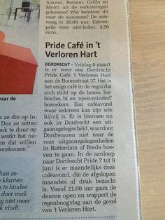 Pride Café - 8 maart 2013