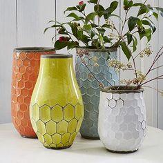 Vase #WestElm http://www.westelm.com/products/hive-vases-c046/?pkey=cvases-botanicals&cm_src=vases-botanicals||NoFacet-_-NoFacet-_--_-