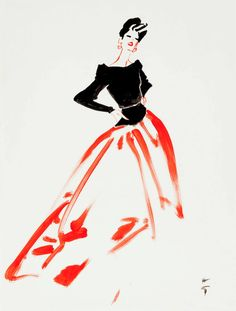 Beautiful vintage fashion illustrations from René Gruau.  RENE GRUAU (1909-2004)