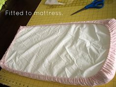 Pickup Some Creativity: Doll Crib Mattress and Sheet Tutorial American Girl Doll Bed, American Doll Clothes, Baby Doll Clothes, American Girls, Baby Doll Crib, Baby Dolls, Reborn Dolls, Girl Dolls, Ag Doll House
