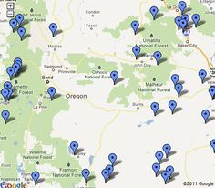 Every hot springs located within the state of Oregon is listed here, complete with statewide map, individual hot springs maps, map quads and GPS coordinates. Oregon Vacation, Oregon Road Trip, State Of Oregon, Oregon Trail, Central Oregon, Oregon Coast, Vacation Spots, Oh The Places You'll Go, Places To Travel