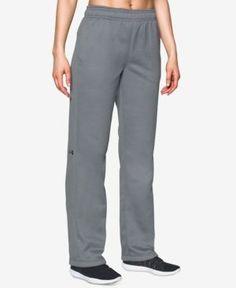 Under Armour Double Threat Armour Fleece Pants - Gray M Long