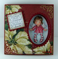 """Din meu Meșteșug Cameră: Peek-A-Boo Card Tutorial (6 """"sau 15 cm pătrat)"""