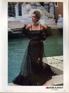 1983 - Yves Saint Laurent Rive Gauche 1983 by Helmut Newton
