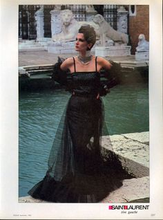 1983 - Yves Saint Laurent Rive Gauche 1983 by Helmut Newton