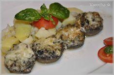 Zapekané šampiňóny - plnené Baked Potato, Sushi, Potatoes, Baking, Ethnic Recipes, Food, Cooking, Bakken, Eten