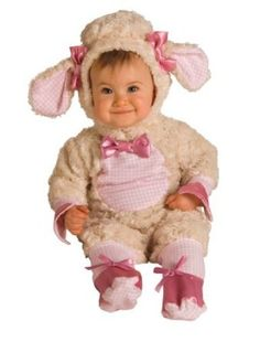 Newborn/infant Pink Lamb Mary may have had a little lamb, but we doubt it was as cute as your little girl will be in this adorable Newborn Pink Lamb Costume! Featuring a light brown hooded jumpsuit covered in faux fleece, this baaah-ewe-tiful outfit is detailed in a gorgeous pink and white crisscross pattern on the ears, feet, sleeve cuffs and belly.