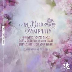 New Ecards to Share God's Love. DaySpring offers free Ecards featuring meaningful messages and inspiring Scriptures! Sympathy Wishes, Sympathy Card Sayings, Words Of Sympathy, Condolence Messages, Condolence Flowers, Condolences Quotes, Deepest Sympathy, Words Of Comfort, Card Sentiments
