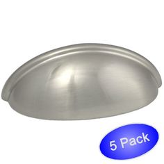 "Cosmas 783SN Satin Nickel Cabinet Hardware Bin Cup Drawer Handle Pull - 3"" Hole Centers - 5 Pack Cosmas http://www.amazon.com/dp/B00L3C78V8/ref=cm_sw_r_pi_dp_qOT8tb1EKCSCN"
