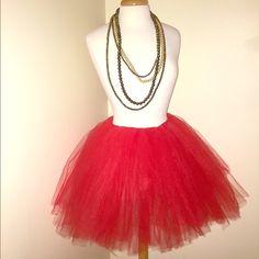 Red tutu Handmade tulle skirt Tamia's Closet  Dresses