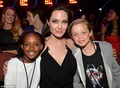 Supporting their mom! Angelina Jolie made her first public appearance since having surgery...