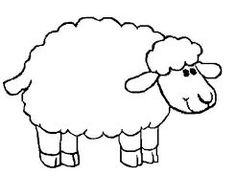 Coloring Page Of Sheep Amazing For Cute Pages With Dogs