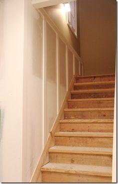 New ideas basement stairs trim wainscoting Stairs Trim, Stair Walls, Basement Bedrooms, Basement Stairs, Basement Flooring, Basement Ideas, Basement Bathroom, Basement Waterproofing, Modern Basement