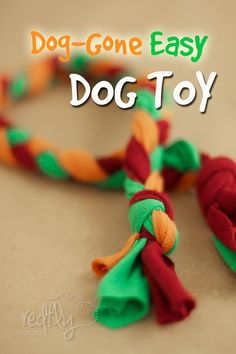 Dog-Gone Easy Dog Toy.  Repurpose a t-shirt! ~ The kids can make a Christmas present for the puppies! They will love this!!