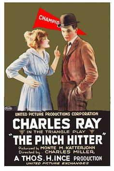 Theatrical poster for the 1917 silent film The Pinch Hitter. Two Movies, Classic Movies, Baseball Movies, Baseball Star, Hollywood Poster, One More Night, See Movie, Movie Poster Art, Silent Film