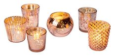 Luna Bazaar Best of Show Vintage Mercury Glass Candle Holders Rose Gold Set of 6 for Use with Tea Lights for Home Decor Parties and Wedding Decorations Mercury Glass Votive Holders * Click image for more details. (This is an affiliate link) Glass Tealight Candle Holders, Vintage Candle Holders, Vintage Candles, Candle Holder Set, Votive Candles, Gold Votive Candle Holders, Candle Set, Tea Light Candles, Mercury Glass Centerpiece