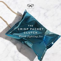 Another cool item by Anya Hindmarch: the crip packet clutch!