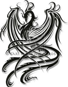 Phoenix Tattoo Model