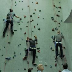 Clients on the go! Up, up and away!  #adventure #wallclimb #challenge #whoamiprojects