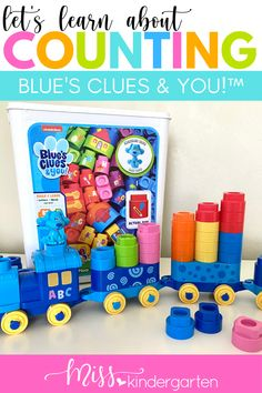 #ad Counting is one of the first math skills we work on in preschool and kindergarten. This blog post is full of counting ideas to help your kids work on rote counting, as well as understanding counting numbers one by one. Learn how you can use the LeapBuilders® Blue's Clues & You!™ products to help incorporate counting into play! The LeapFrog® LeapBuilders® Blue's Clues & You!™ Blue's 123 School keeps the important learning going at home or in school! Number Recognition Activities, Number Sense Activities, Counting Activities, Hands On Activities, Kindergarten Activities, Math Skills, Math Lessons, Kids Work, Daily Math