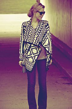 love the sweater, tribal print