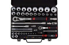 Socket wrench 1/4 1/2 inch assort, case, 59 pcs