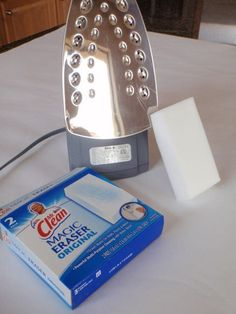 Clean Iron with Mr. Clean Magic Eraser ! Works.Awesome!