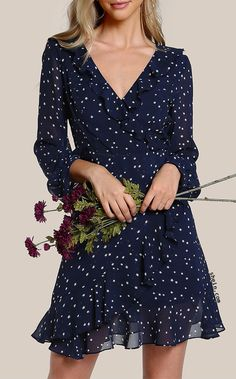 To find out about the Flutter Sleeve Frilled Surplice Wrap Dress at SHEIN, part of our latest Dresses ready to shop online today! Ruffle Dress, Dress Up, Ruffle Trim, Ruffle Sleeve, Dust Ruffle, Skater Dress, Dress Outfits, Fashion Dresses, Dress Clothes