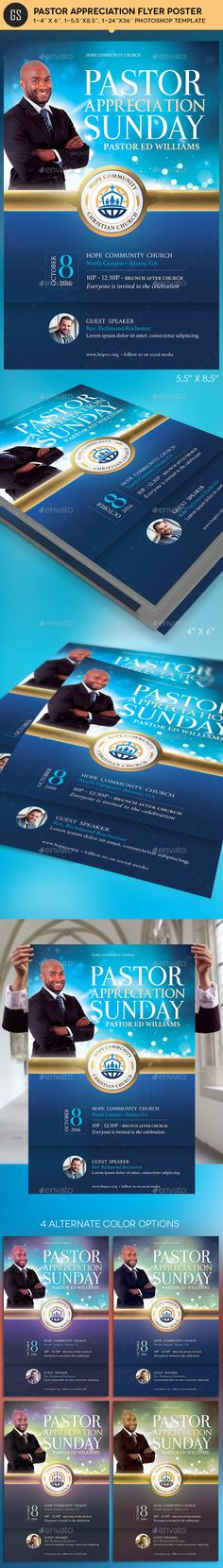Community Pastor Appreciation Flyer Poster Template — Photoshop PSD #poster #jubilee • Available here → https://graphicriver.net/item/community-pastor-appreciation-flyer-poster-template/17506723?ref=pxcr