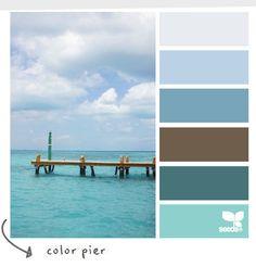 Wordless Wednesday - Coastal Color Palette - Color Pier - CereusArt