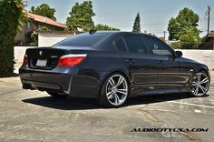 BMW E60 5 Series on F10 M5 Replica Wheels
