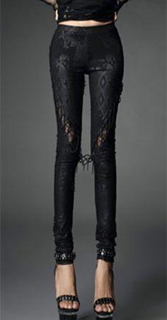Remis en stock   Back in stock  Pantalon noir leggings motif serpent et  lacage Punk Rave Prix  39.90  new  nouveau  japanattitude  pants  pantalons  ... 88afd8c46f9a