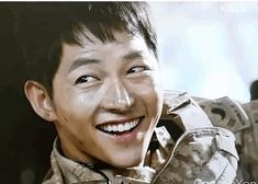 Ep 8 ~ ..incapable of doing anything else except stare..Is he allowed to be this cute? #descendants of the sun #song joong ki