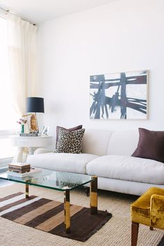 Sofa & artwork