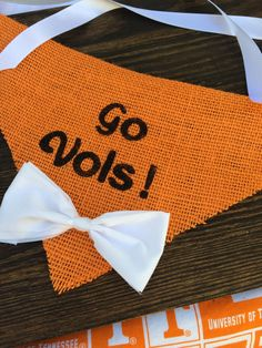A personal favorite from my Etsy shop https://www.etsy.com/listing/484899797/go-vols-tennessee-dog-bandana-burlap