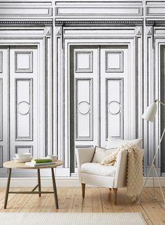 Türen Wie Im Schloss: Wandbild Justus Von Sandberg #wohnzimmer #tapete