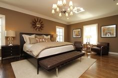 Wall color is SW 7525 Tree Branch and trim / ceiling color is SW 6105 Divine White, both by Sherwin-Williams.