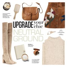 """""""Neutral ground"""" by honestlyjovana ❤ liked on Polyvore featuring RED Valentino, Gianvito Rossi, Tom Ford, Toast, Garance Doré, Haute Hippie, Coach, Chanel, Maison Margiela and Philip Kingsley"""