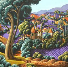 Callaghan Prints ::CALLAGHAN, George Irish (b1941)_Along the Road, France