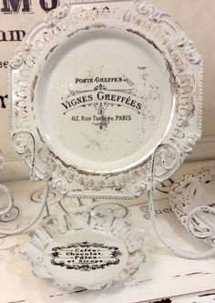 Refinished Silver Antiques - Using chalk paint and transfer graphic The Graphics…