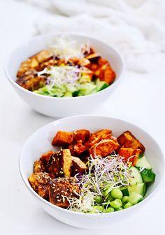 Veggie Recipes, Asian Recipes, Vegetarian Recipes, Healthy Recipes, Easy Diner, Homemade Tofu, Marinated Tofu, Vegetarian Appetizers, Vegan Main Dishes