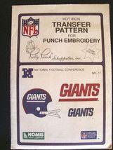 Vtg NFL New York Giants Transfer Pattern Embroidery