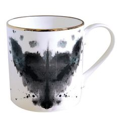 Ink Blot Mug. My interest and future career in Psychology paired with my collection of mugs mean I NEED THIS MUG. Omg rorschach fox mug