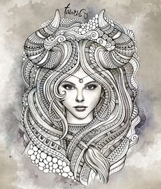 "Zodiac illustration ""TAURUS"" by balabolka, via Behance"