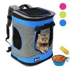 Pawsse Pet Carrier Backpack for Dogs and Cats up to 15 LBS Comfort Dog Cat Carrier Travel Bag Breathable for Hiking Walking Cycling and Outdoor Use 16H x13.2L x12W Blue * Be sure to check out this awesome product.-It is an affiliate link to Amazon. #DogCarriersTravel