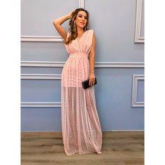 Vestido-Fit-Tule-Nude Mermaid Prom Dresses Lace, Pink Prom Dresses, Prom Dresses With Sleeves, Casual Dresses, Fashion Dresses, Dress Skirt, Lace Dress, Embroidery Fashion, Western Dresses
