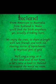 A touching little poem about Ireland.