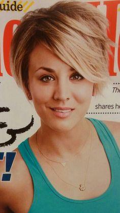 I love her new short & sassy hair cut!!
